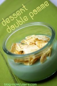 Chips de pomme et dessert au calvados