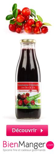 Acheter du jus de cranberry